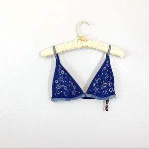 Victorias Secret Navy Moon & Stars Bralette